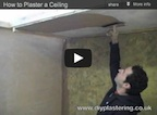Plaster a ceiling