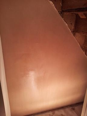plastering attempt