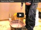 Mixing Plaster